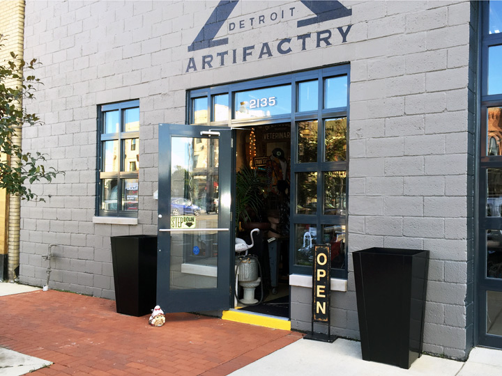 street view of Detroit Artifactry store front