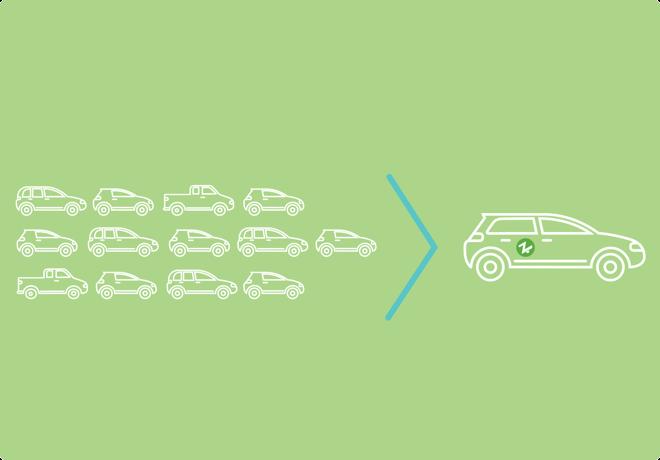 13 cars
