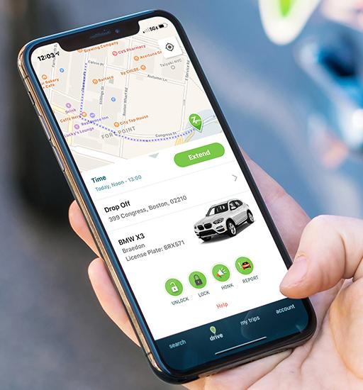 Unlock and lock Zipcar screenshot