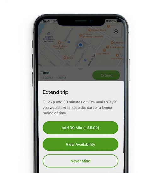 Extending your trip screenshot