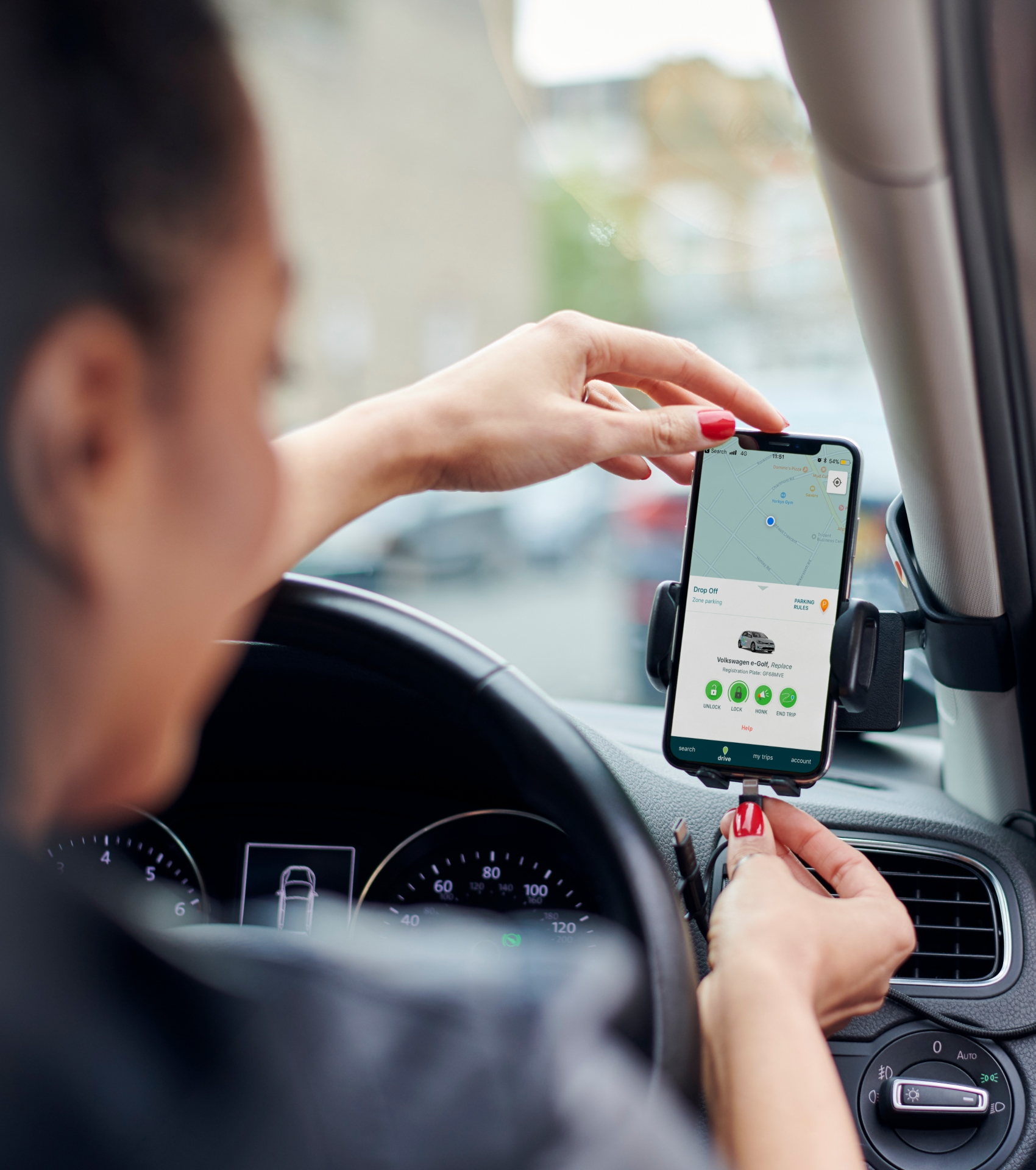 phone in zipcar