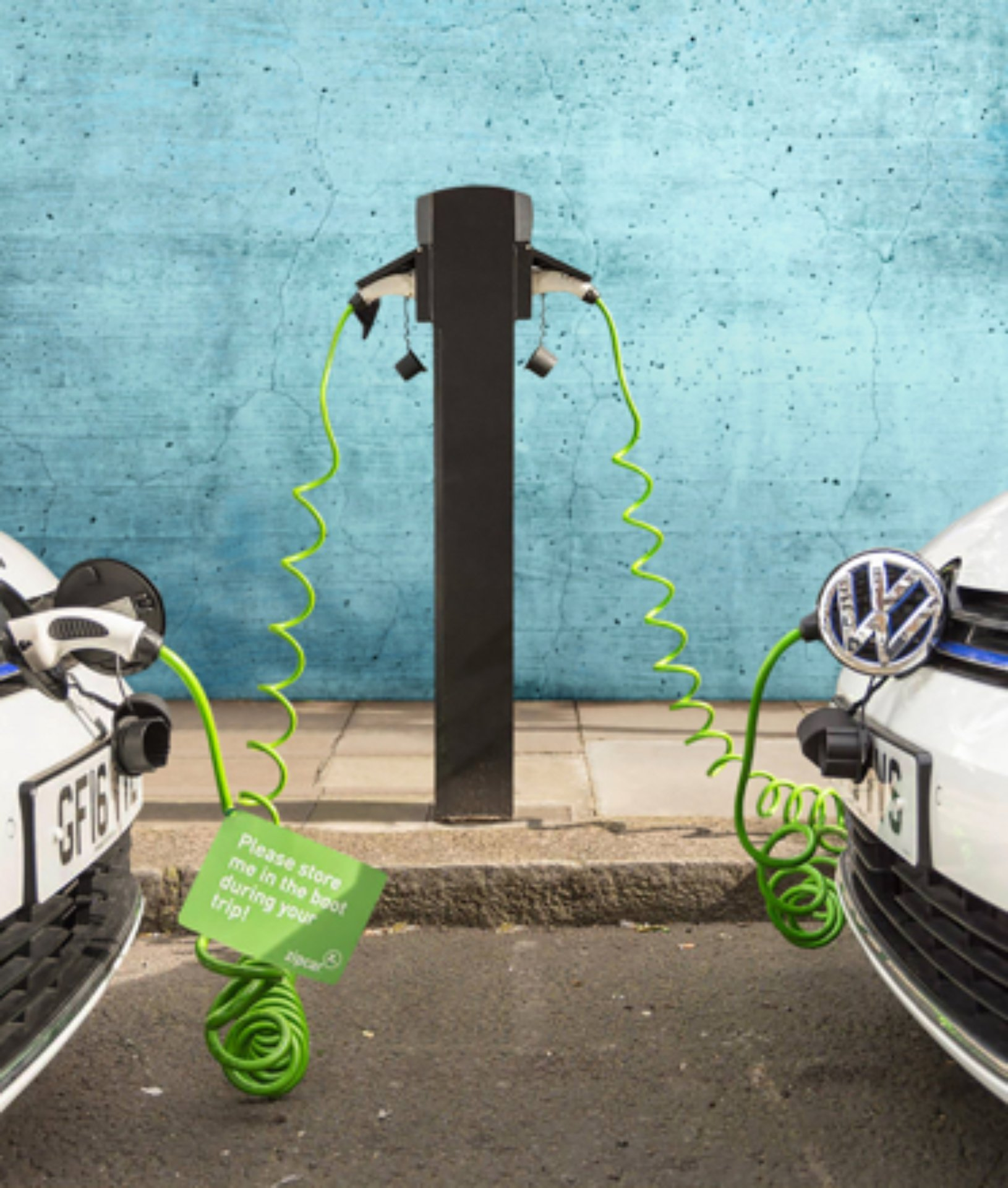 electric car sharing charging bays