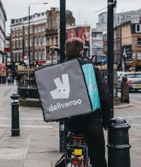 deliveroo rider in east london