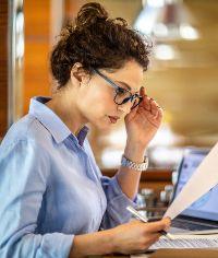 woman reviewing business finances