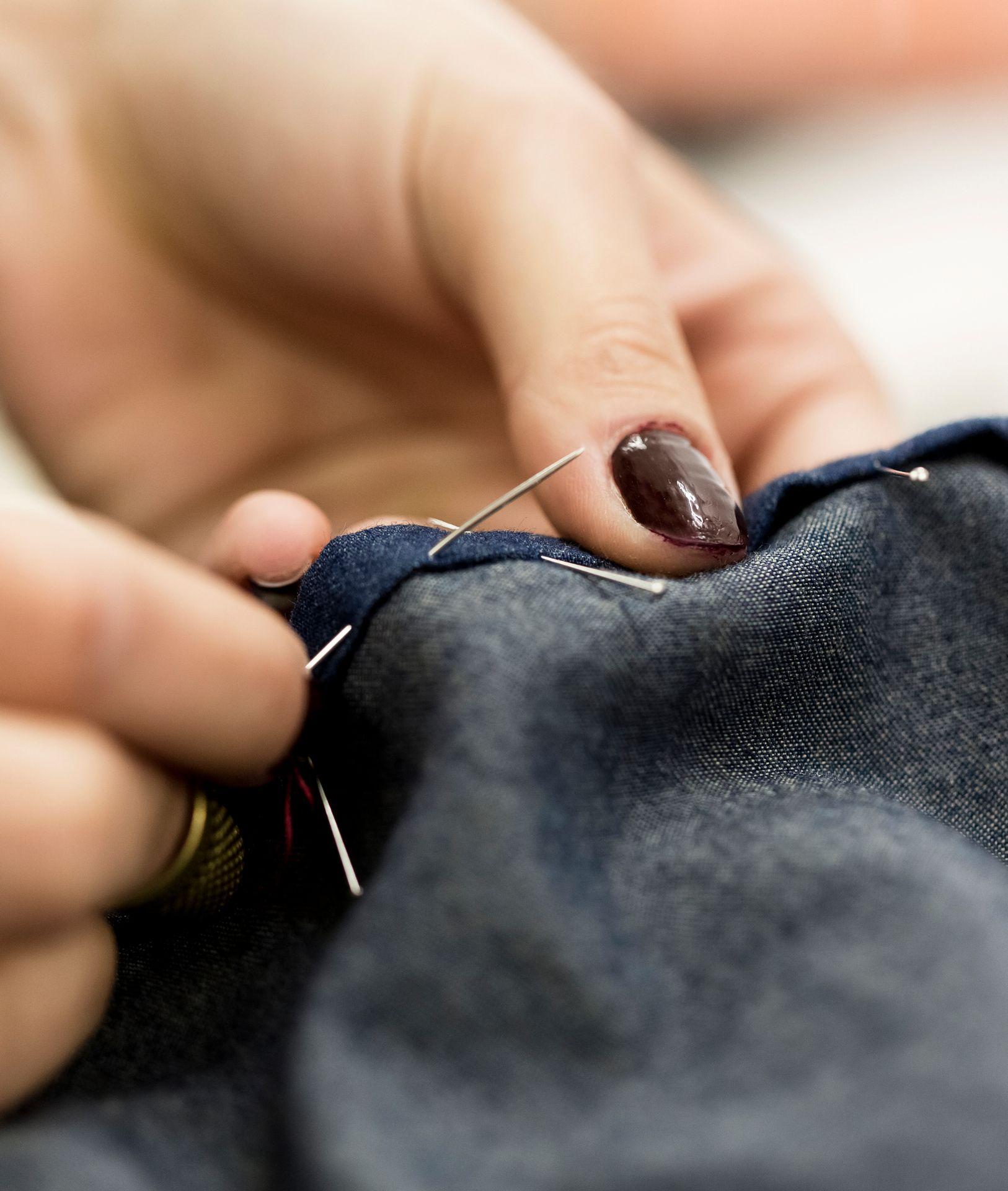 repairing clothes