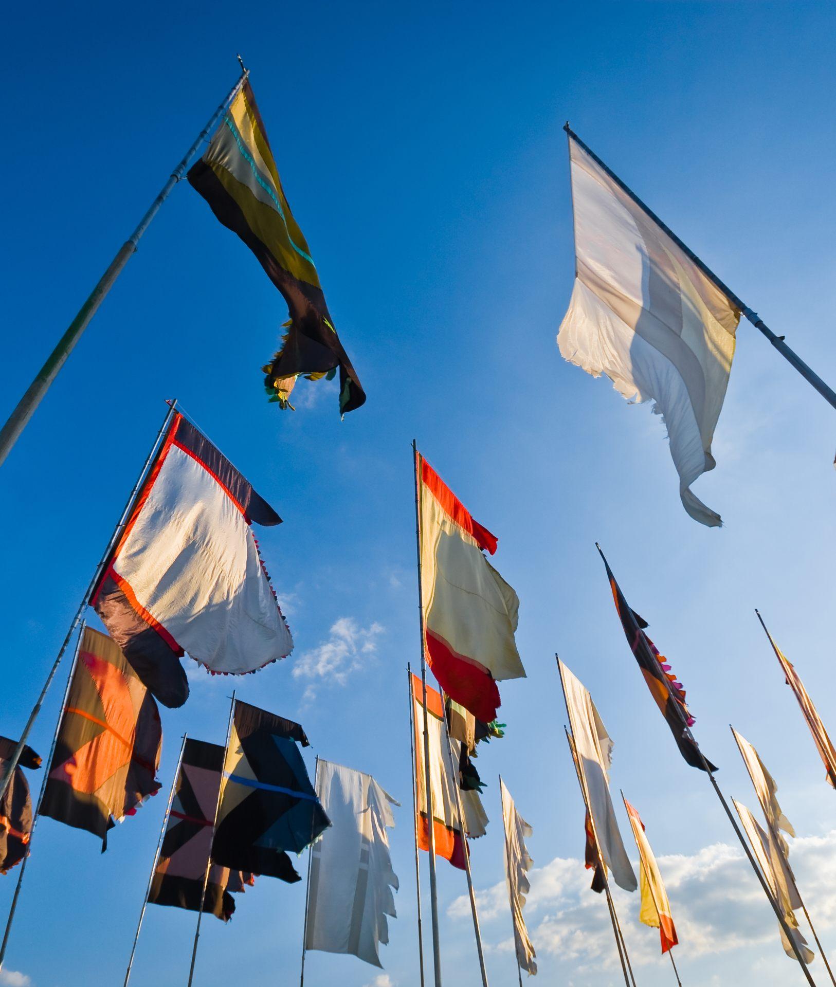 festival flags