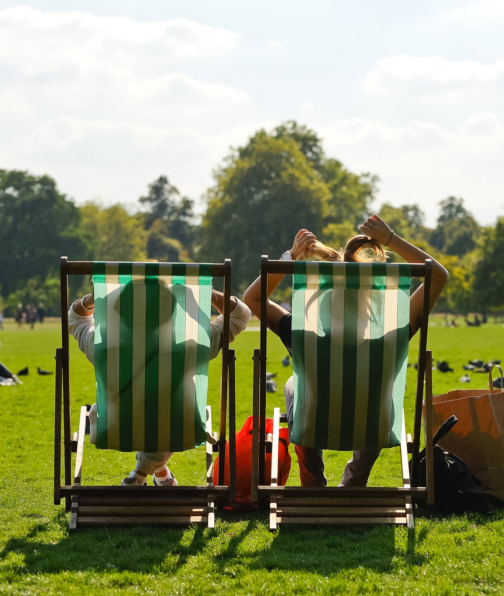 people in deck chair