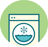 Use the cold wash cycle