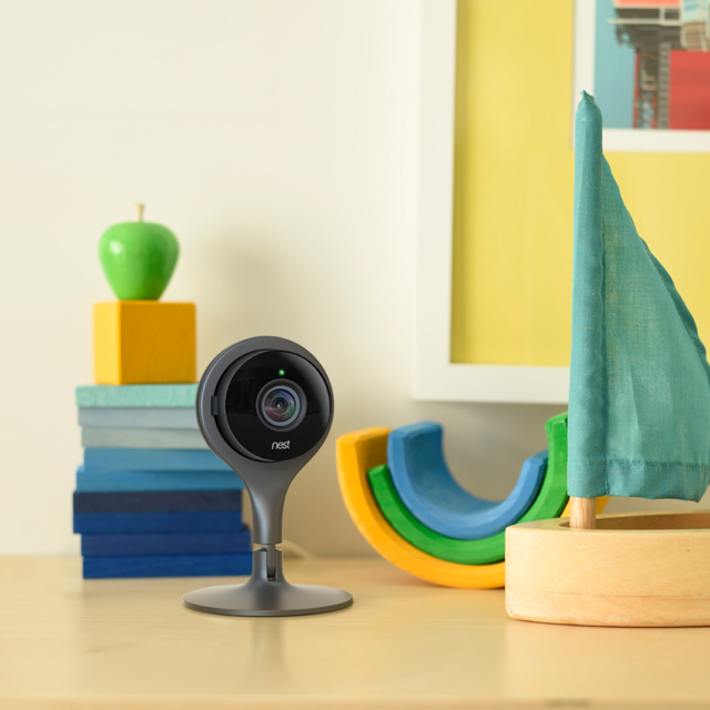 nest camera on a desk