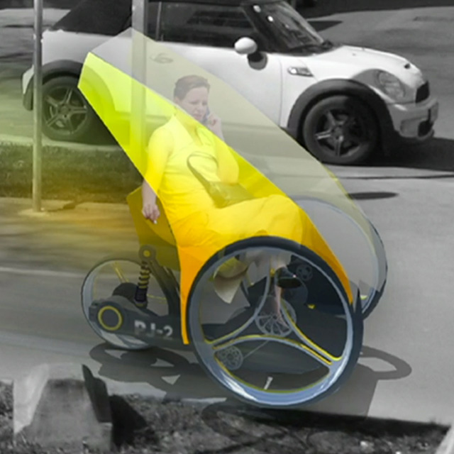 futuristic tricycle