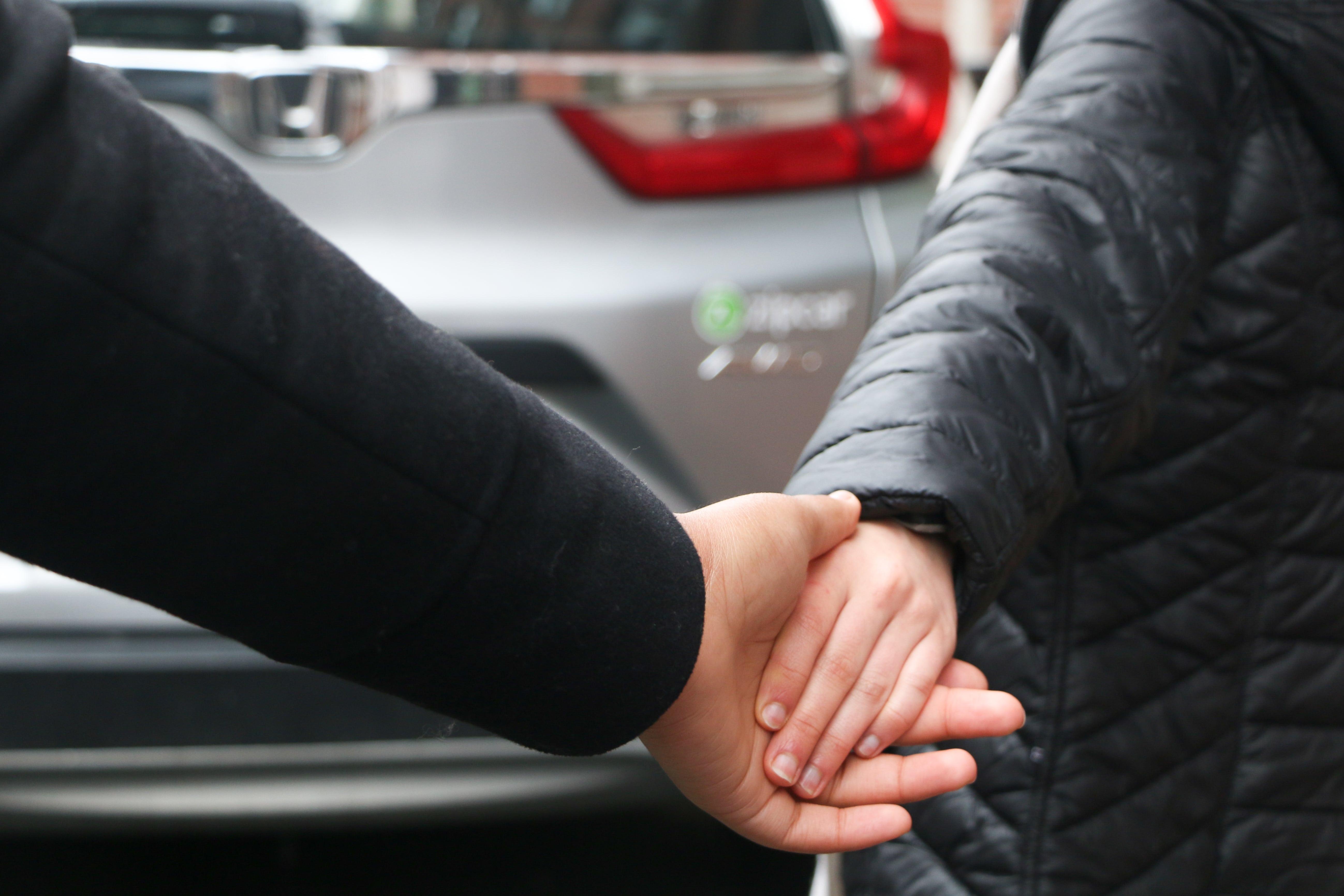 holding hands zipcar