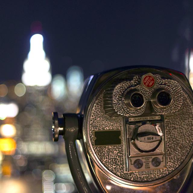 fuzzy NYC skyline