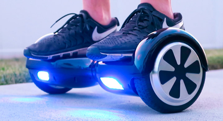 Catch some air with a real, live hoverboard. Image courtesy of Hoverboard Unboxing.
