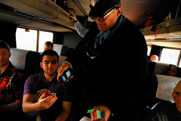 Tickets, please! Or rather, cell phones, please! Transit's gettin' tech-savvy. Image courtesy of Chicago Tribune.