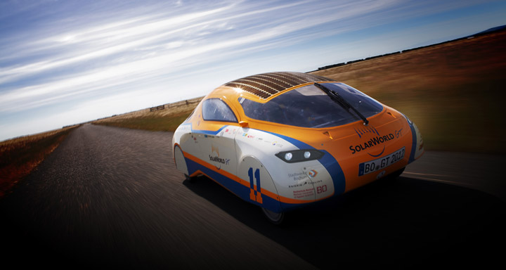 Solar powered cars: they're not just for the desert. Image courtesy of SolarWorld.