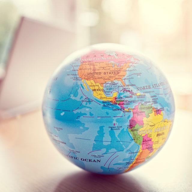 a small globe