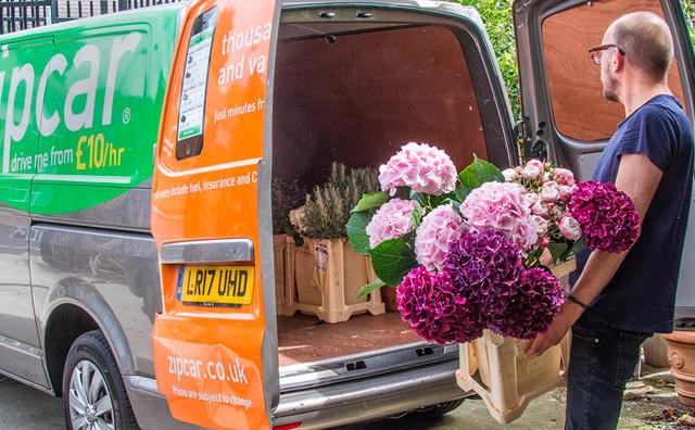 Florist using a Zipvan