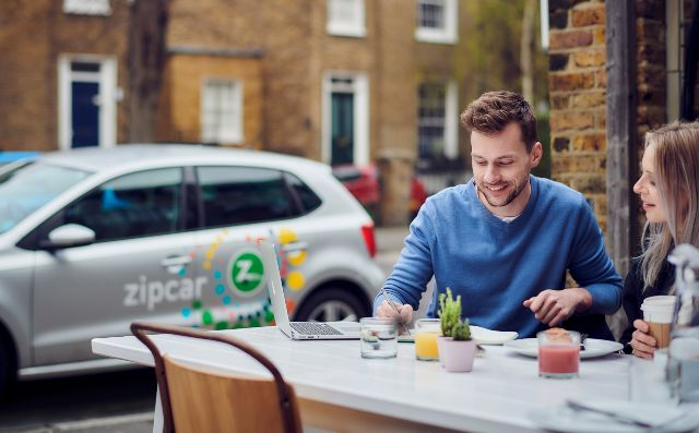 using zipcar for business to get to a meeting