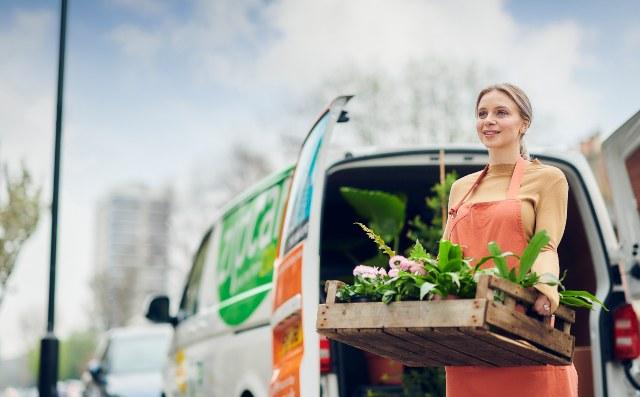 zipcar van flowers
