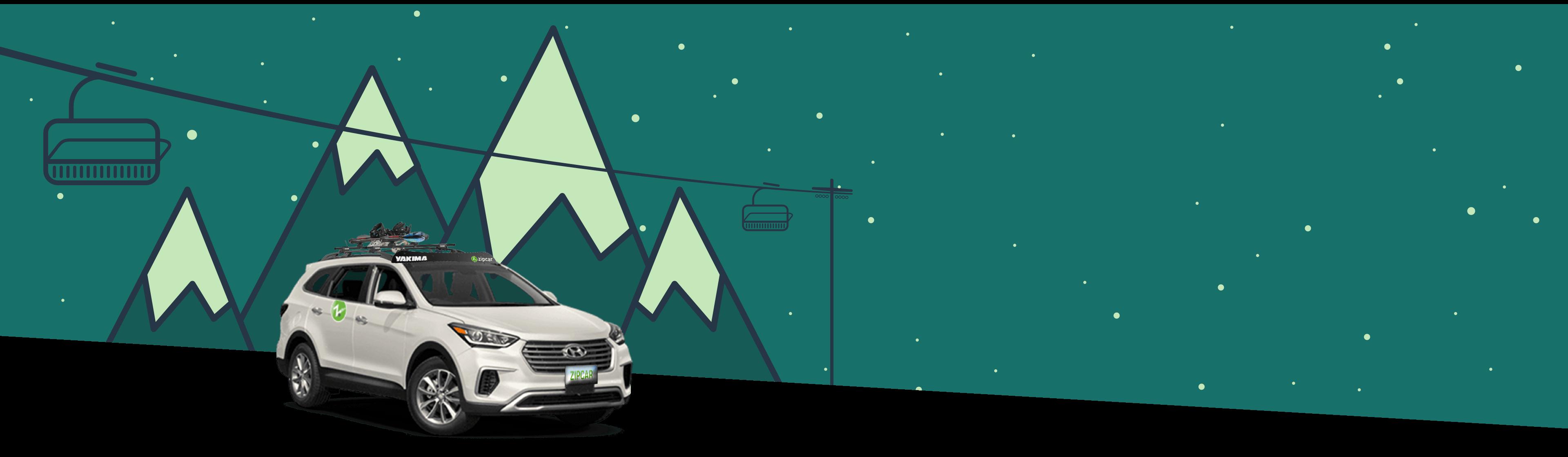 ski lift with zipcar
