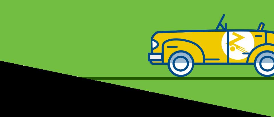 yellow zipcar