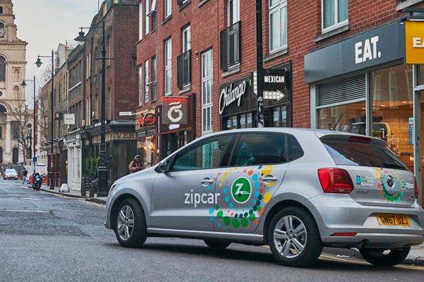 Zipcar driving in London