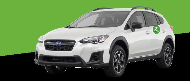 Silver car profile