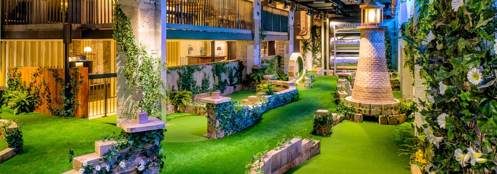 Swingers city crazy golf course