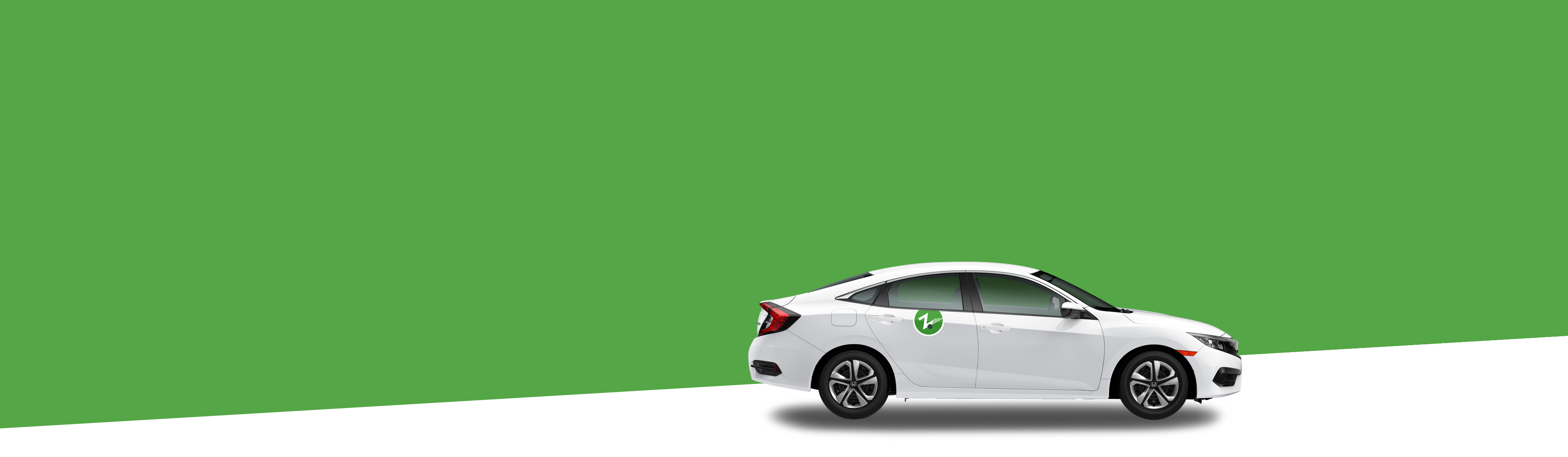 green-background-white-zipcar