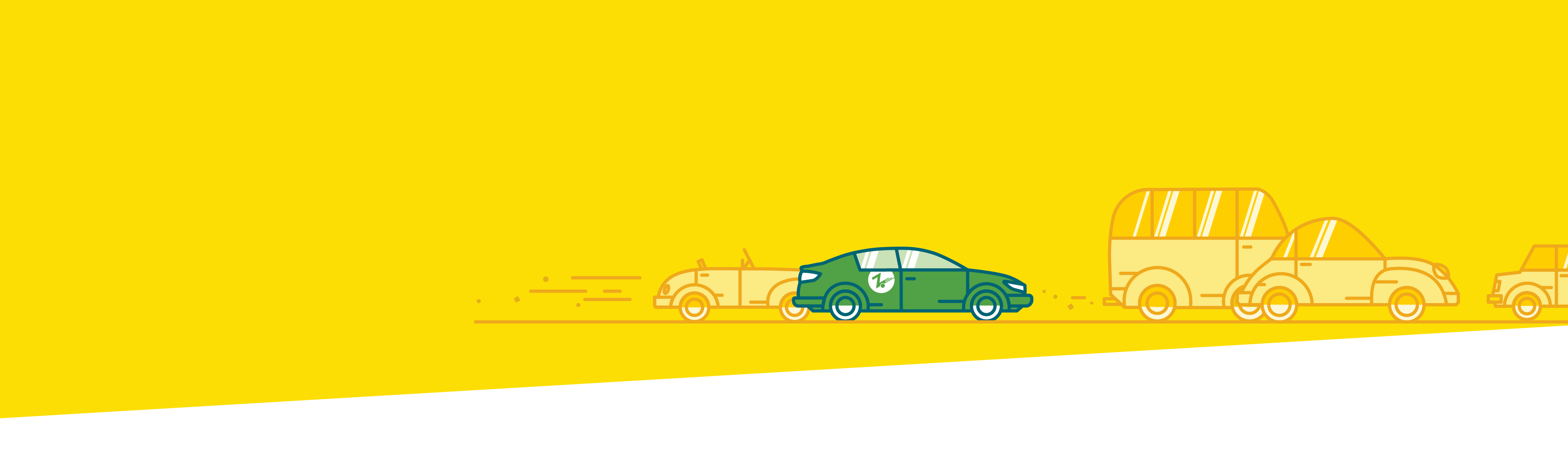 yellow with green car