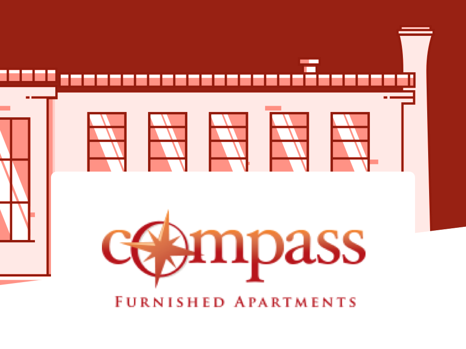 Building and Compass Apartments logo