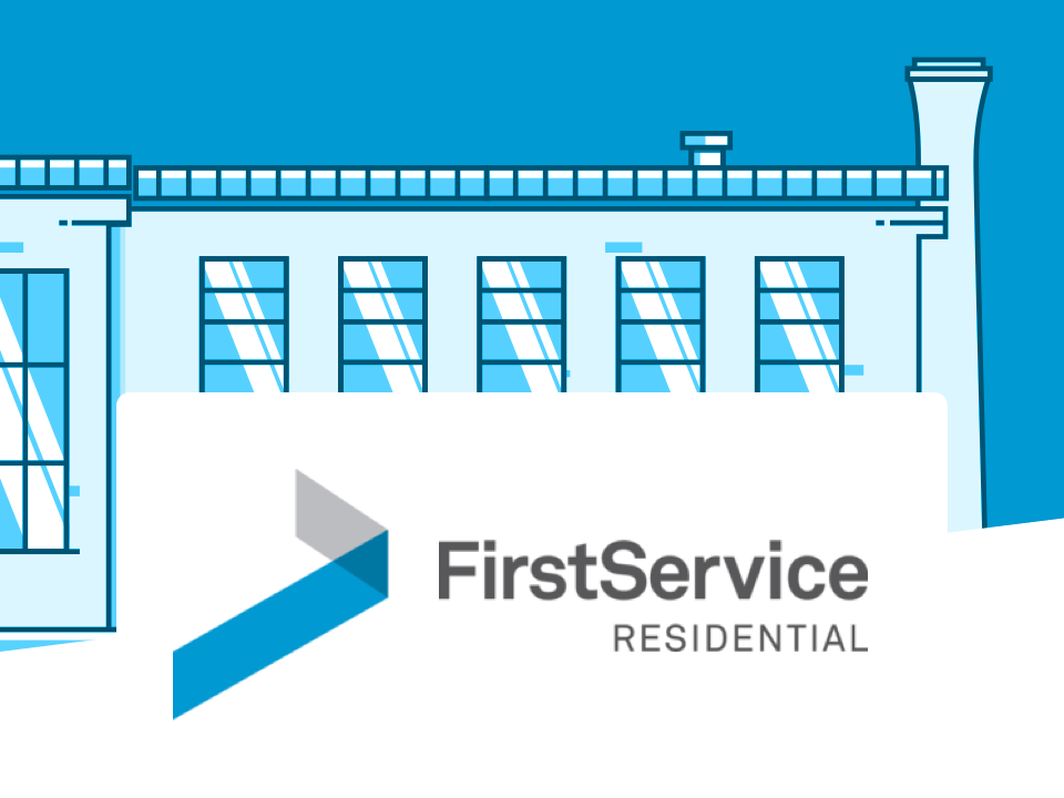 Building and FirstService Residential logo