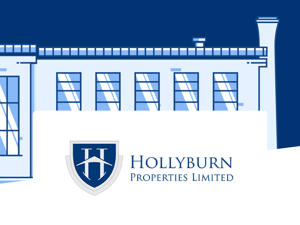 Hollyburn Properties logo and a building