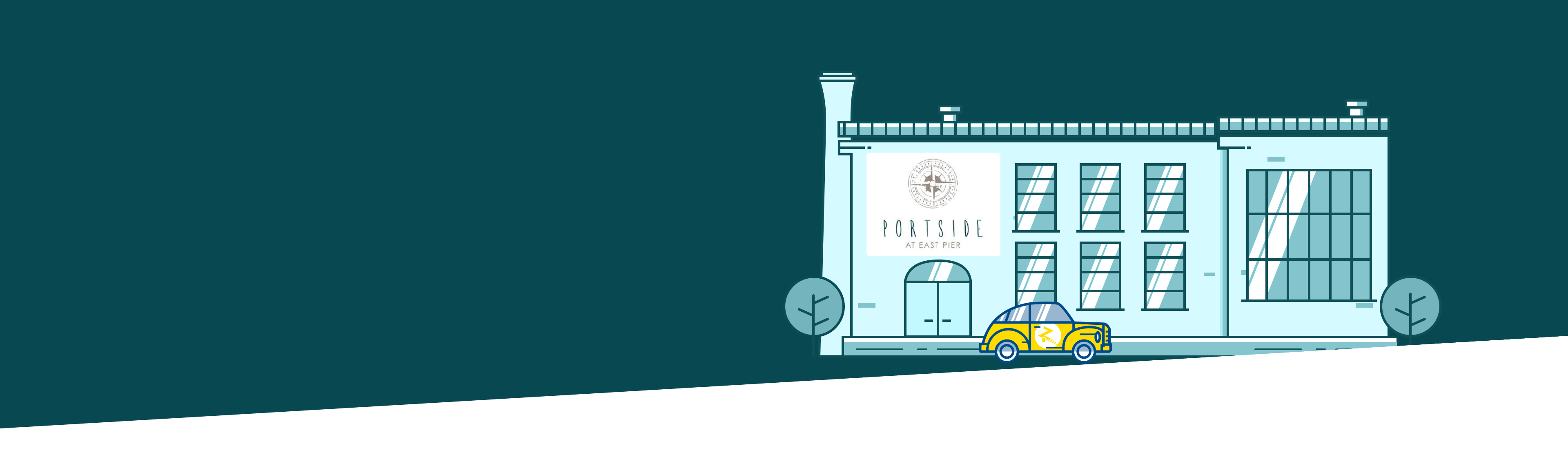 portside white logo