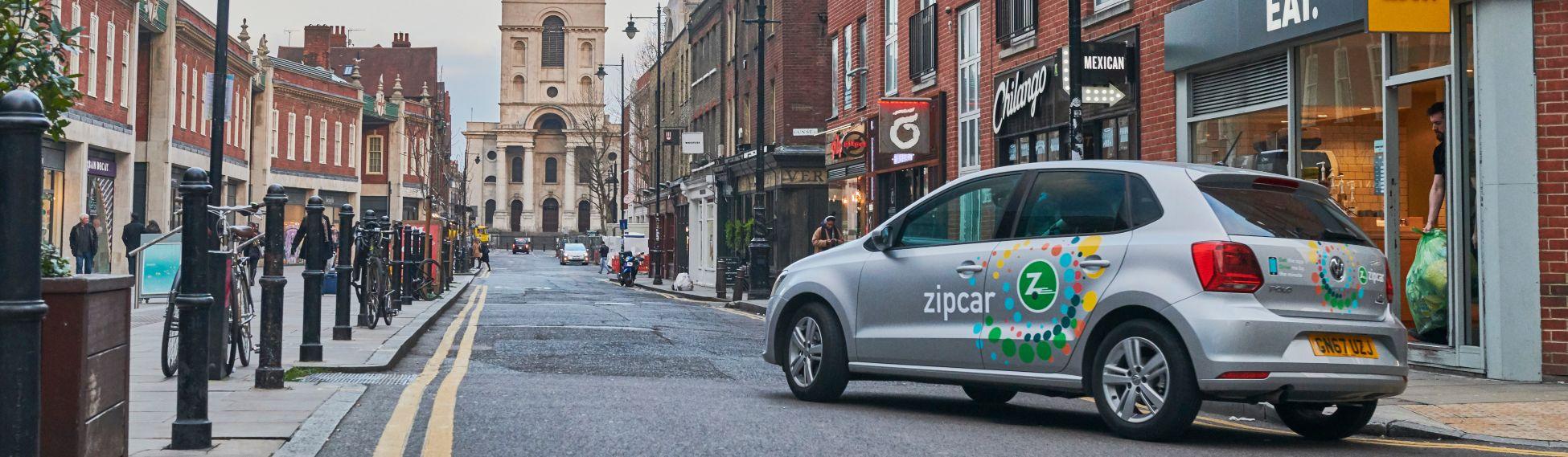 Zipcar in spitalfields
