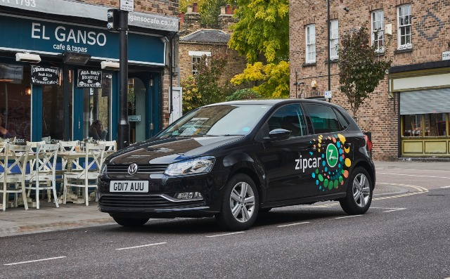 Zipcar in the street