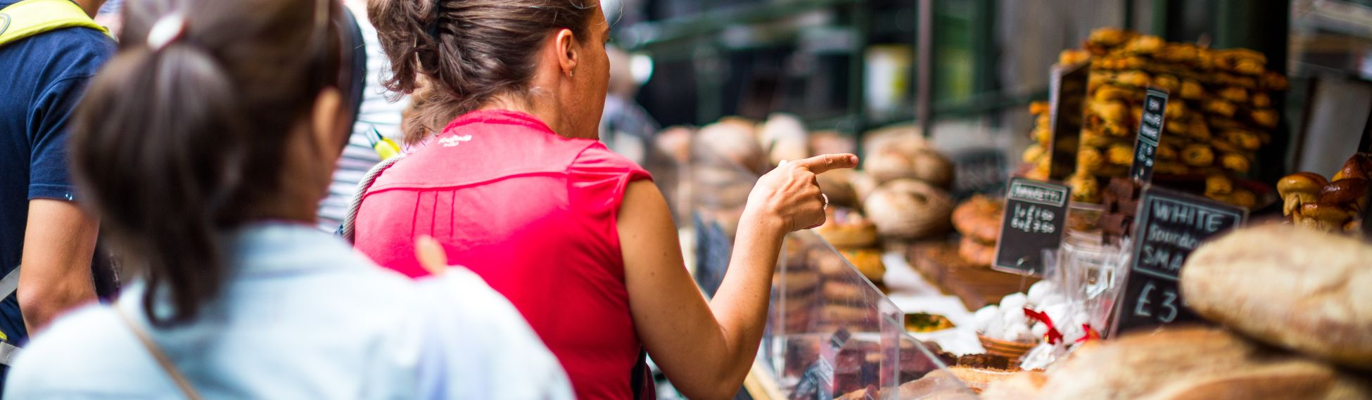 woman at a food market