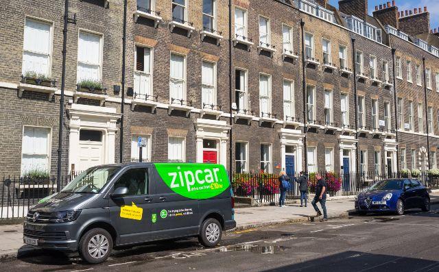 zipcar van parked outside
