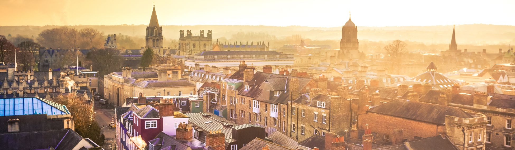 City of Oxford from Above at Sunset, United Kingdom