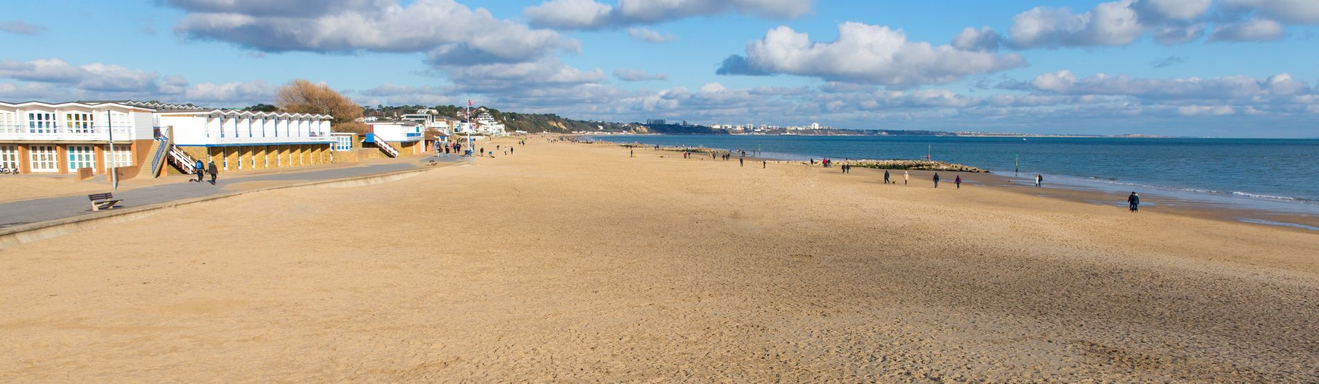 Sandbanks beach and waves Poole Dorset England UK stock photo