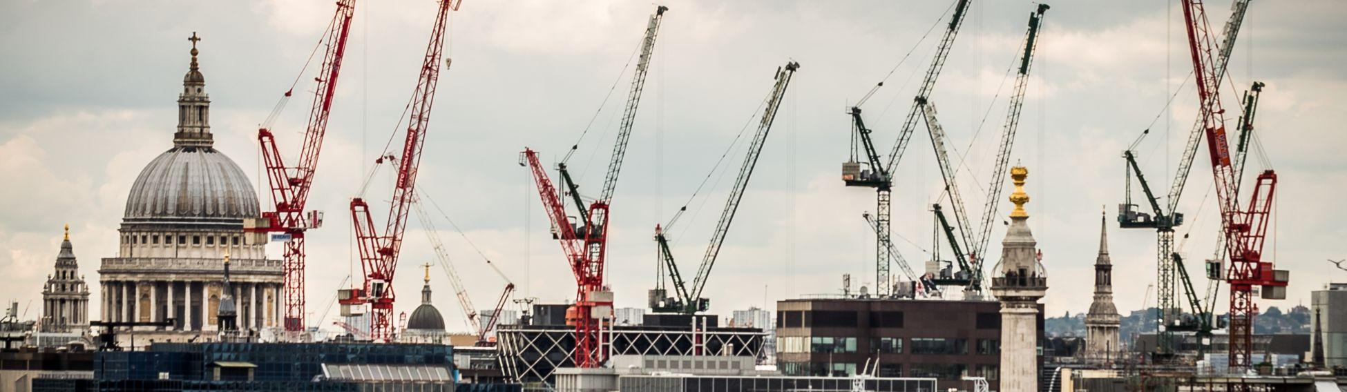 cranes over london