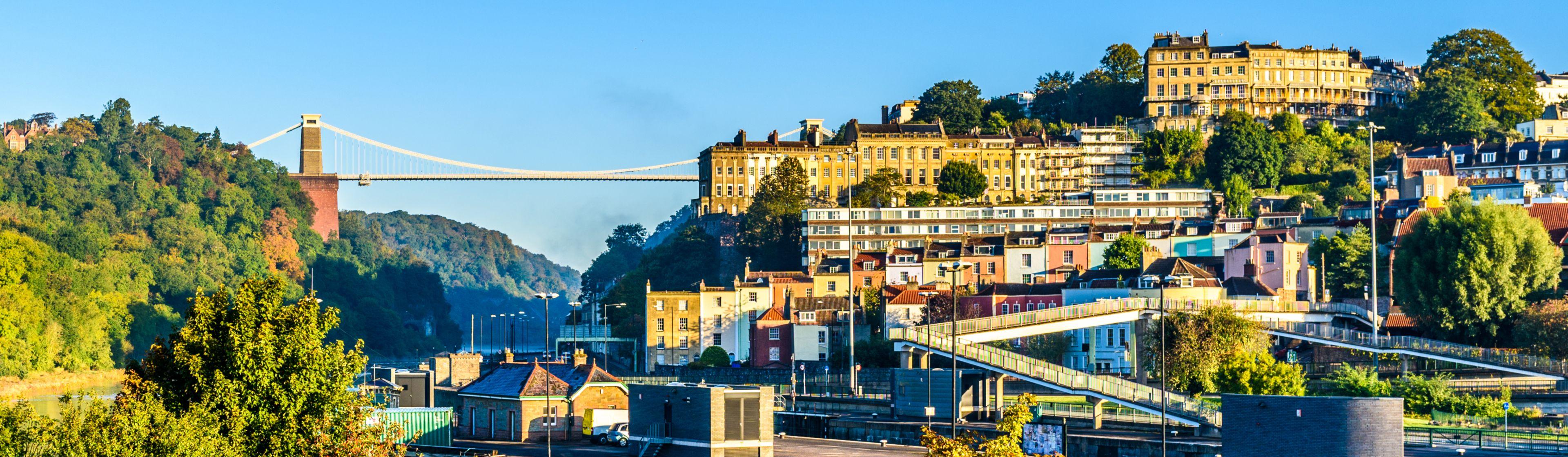 Clifton village with suspension bridge