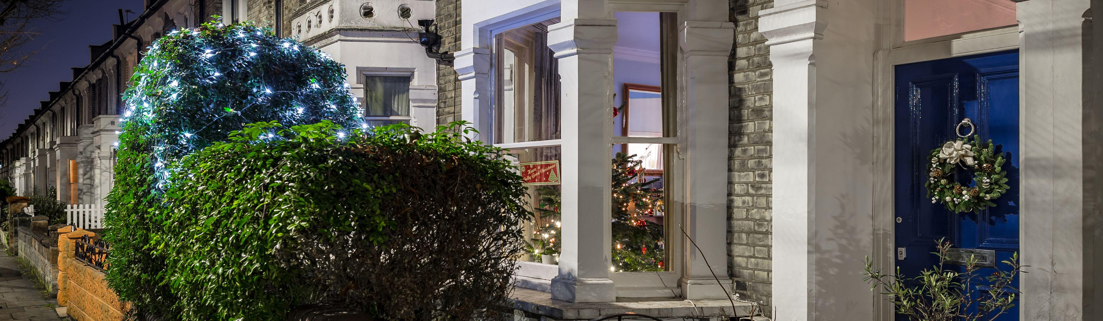 London house at Christmas