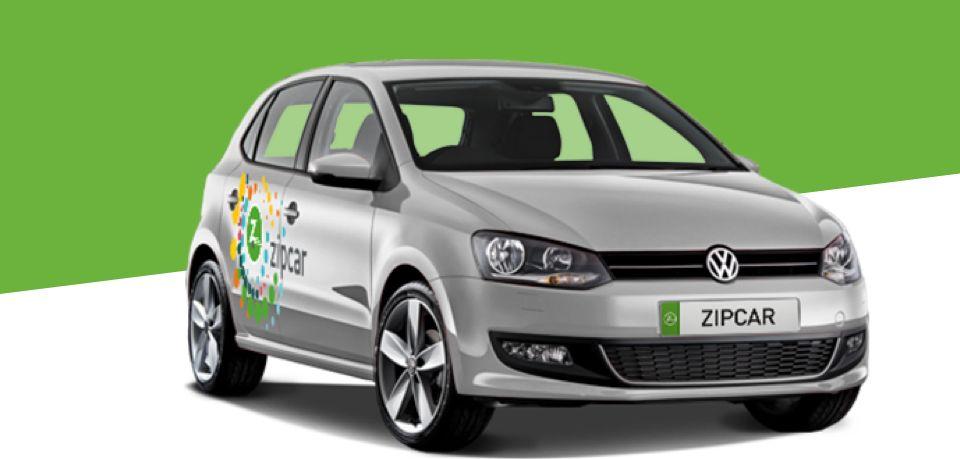 silver zipcar flex on a green background