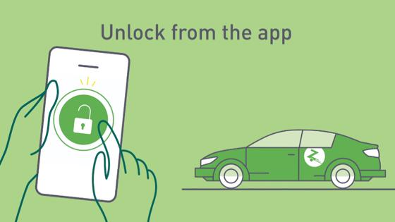 unlock with app