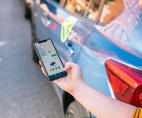 Book Zipcar using app