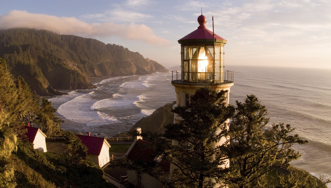 haceta head lighthouse scenic viewpoint