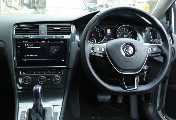 inside a Zipcar VW e-Golf