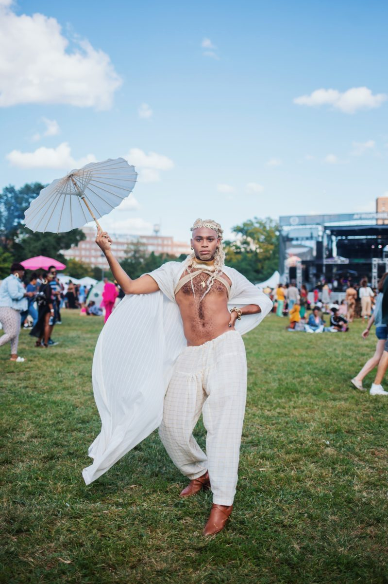 outfit at afropunk