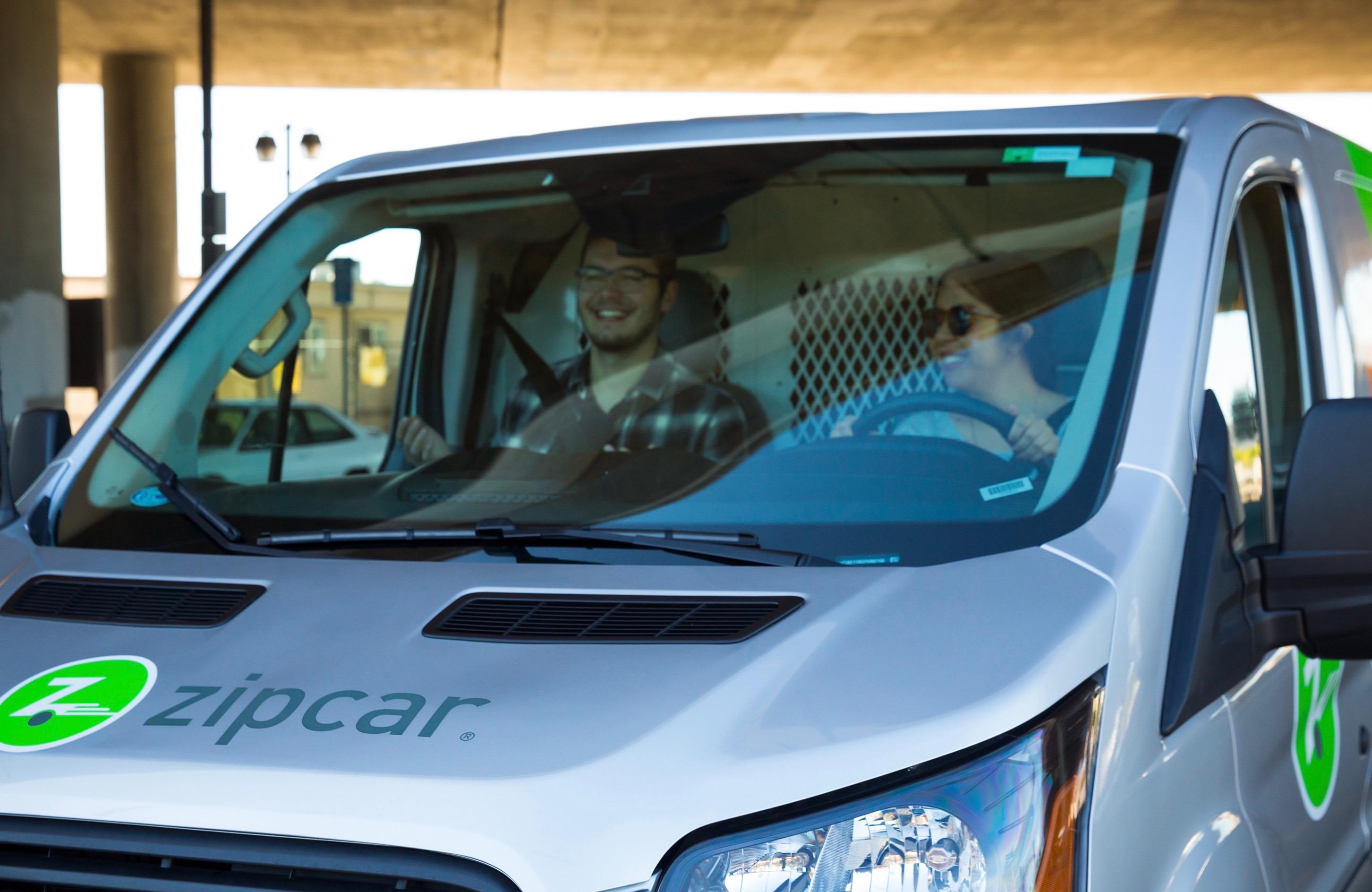 Zipcar transit van